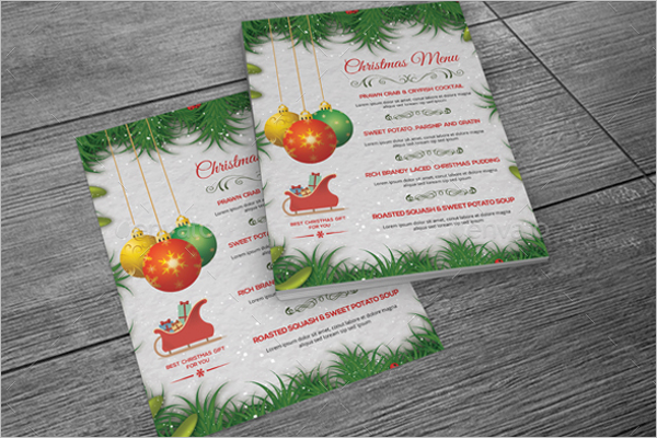 Holiday Menu Card Template