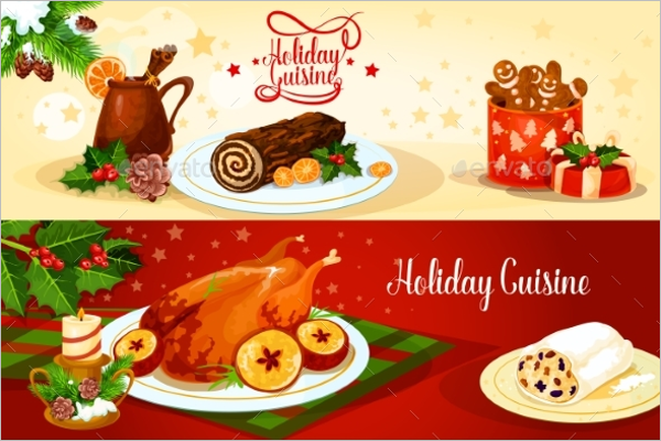 Holiday Menu Design Template