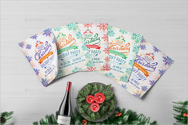Holiday Party Flyer Design