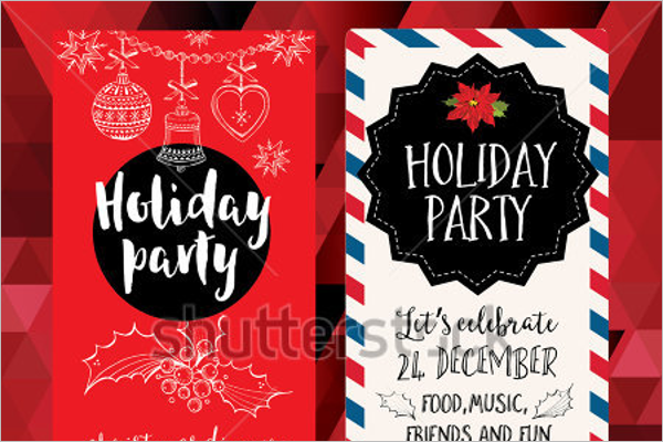 Holiday Party Flyer Template Free