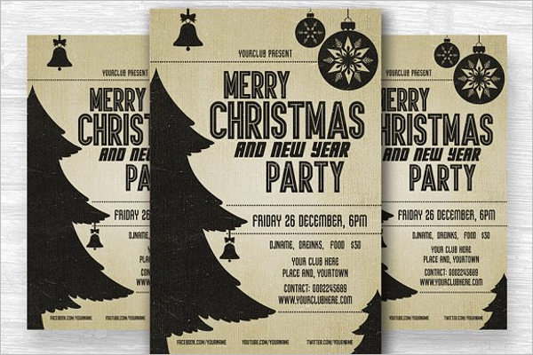 Holiday Party Flyer Vector Design