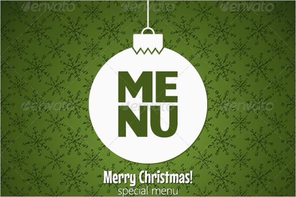 Holiday Special Menu Design