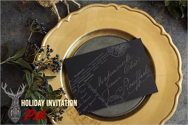 Holiday menu PSD Template
