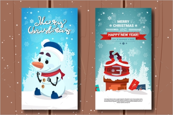 Holly Jolly Greeting Card Template