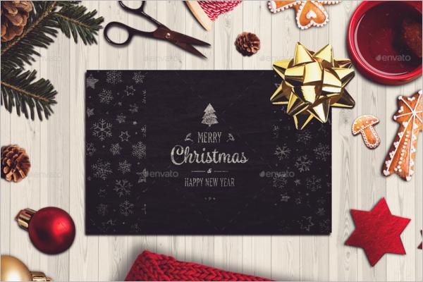 Horizontal Christmas Card Mockup