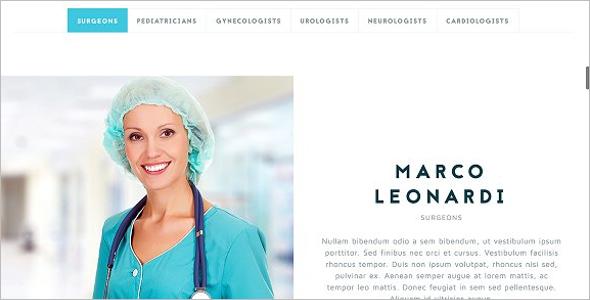 Hospital Responsive WebsiteTemplate