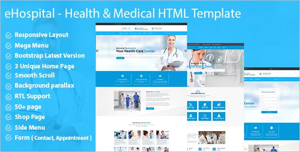 Hospital Website Design Template