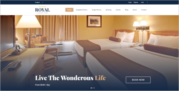 Hotel Website Template Bootstrap
