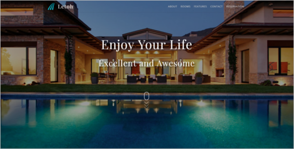 Hotel Website Template In HTML