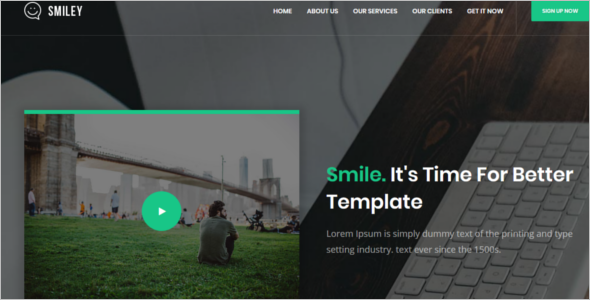 HTML5 Animated Website Template