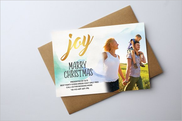 Illustrated Christmas Photo Card