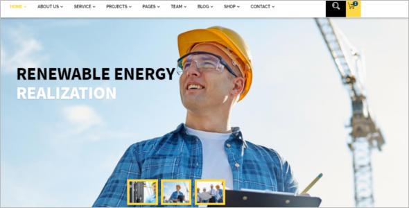 Industrial Website Template