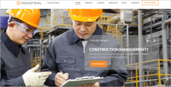 Industry Work Website Template
