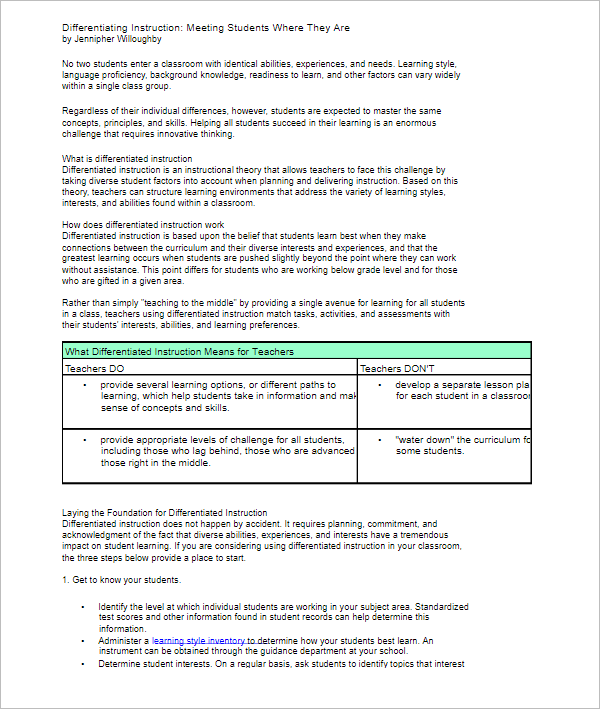 Instruction Meeting Template Pdf
