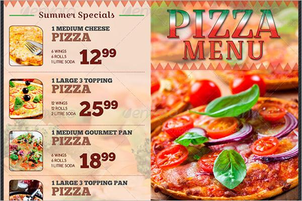 Italian Pizza Restaurant Menu Template