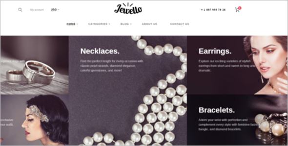 Jewelry Online Store Website WooCommerce Theme