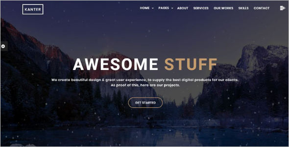 Jquery Animated Website Template