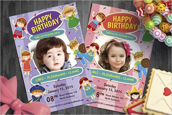Kid Birthday Flyer Template
