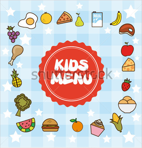 Kids Breakfast Menu Design