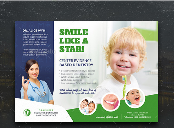Kids Dental Flyer Template