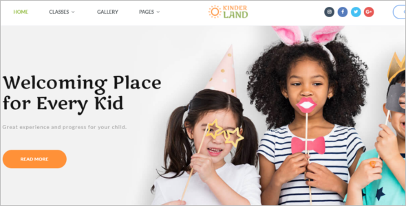 Kids Family Website Template