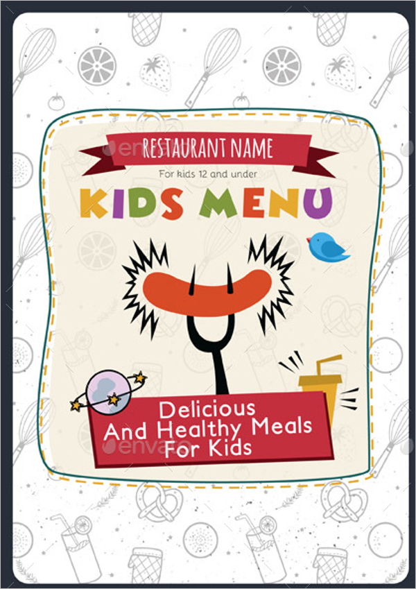 Kids Food Menu Design