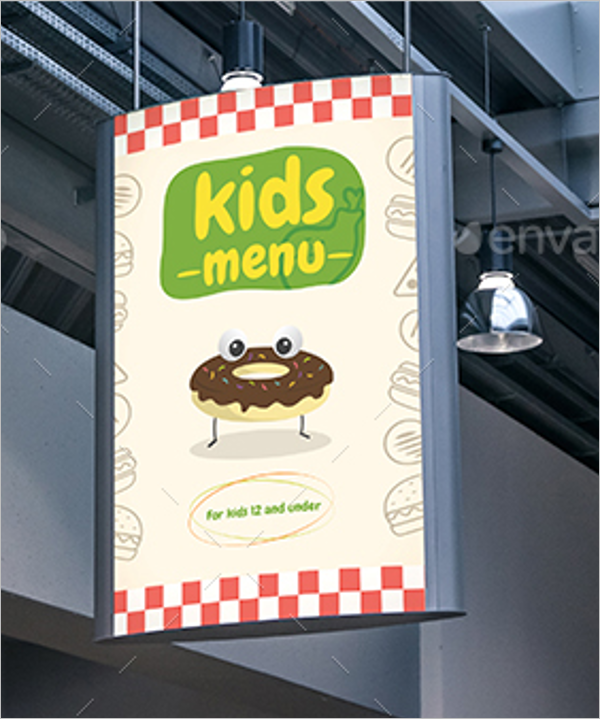 Kids Menu Design Idea