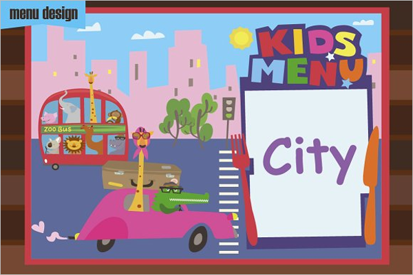 Kids Menu EPS Design