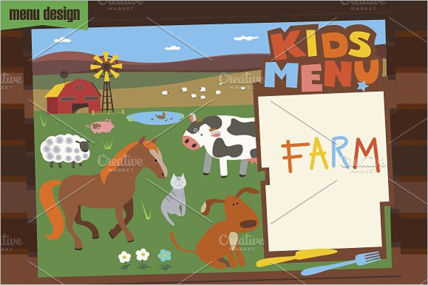 Kids Menu Games Design
