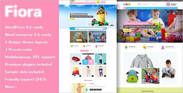 Kids Store WooCommerce Template