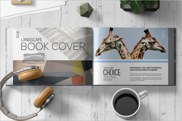 Landscape Book Mockup Template