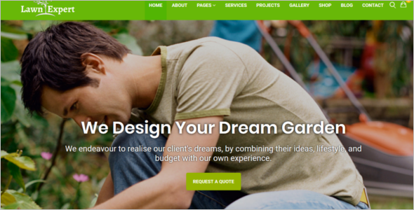 Landscaping HTML Template