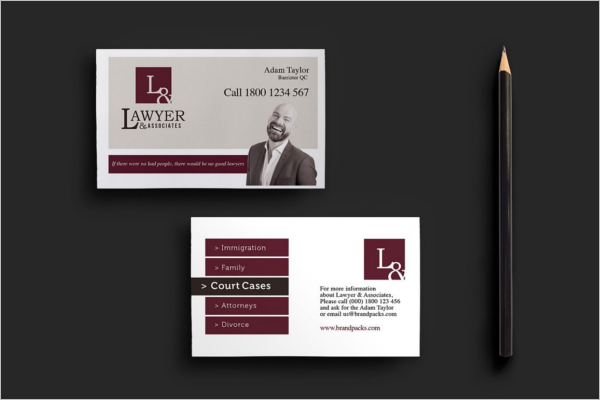 Lawyer Services Business Card Template