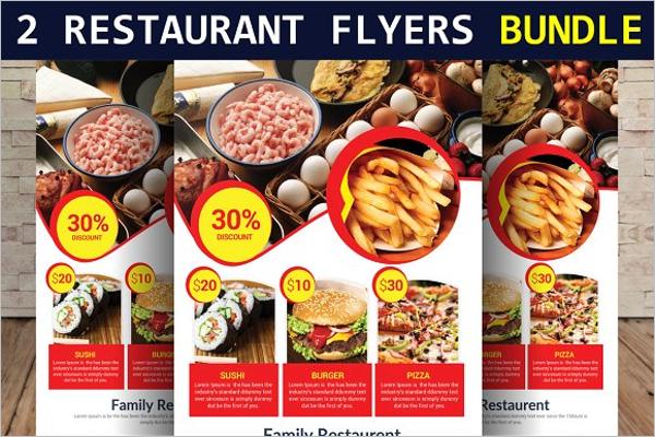 Lunch Restaurant Flyers Bundle