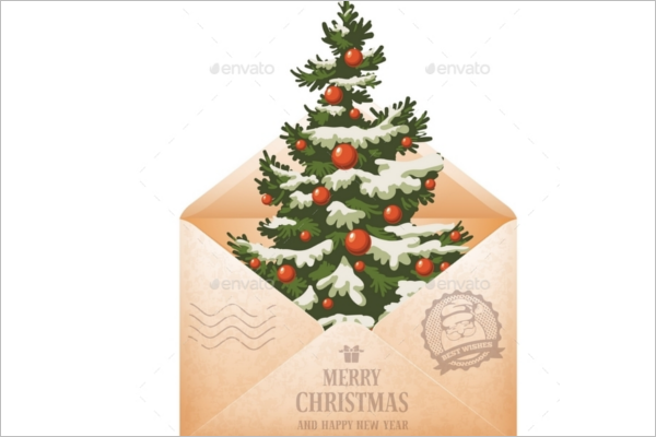 Mail Christmas Envelope Template