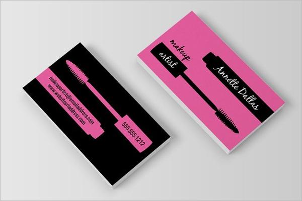 Makeup Artist Business Card Example