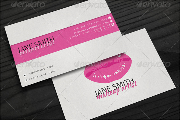 Makeup Artist Business Card Templates Free PSD Designs Creative - Makeup artist business card template