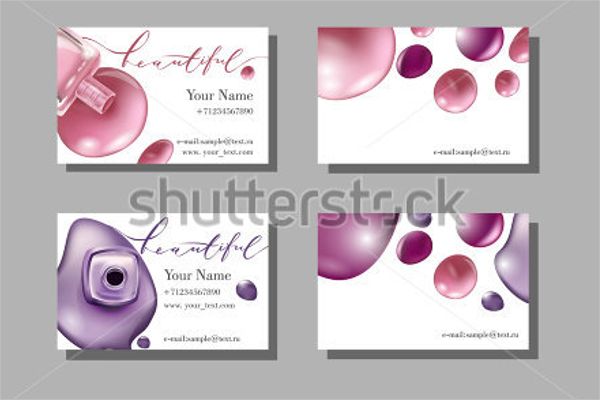 Makeup Business Card Background