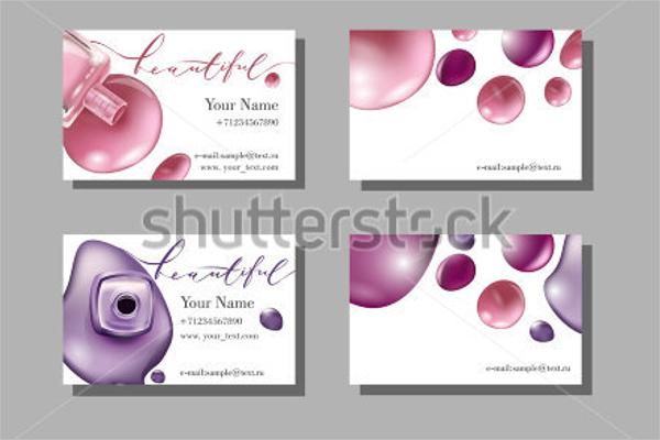 Makeup Business Card Background