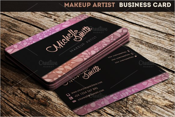 Makeup Business Card Holder Template
