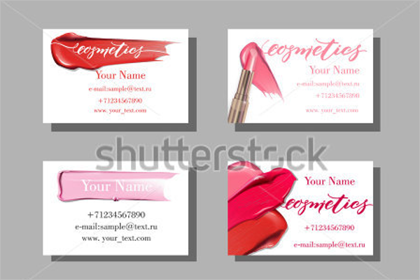 Makeup Business Card Layout Template