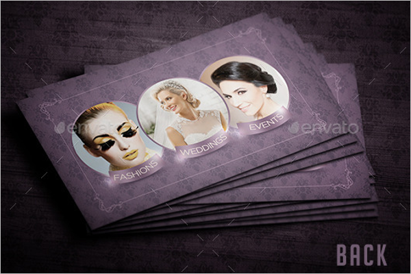 Makeup Business Card Template PSD