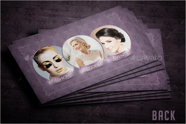 Makeup Business Card Template PSD