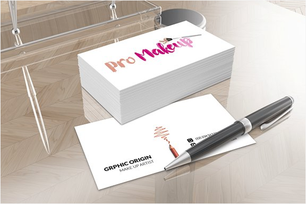 Makeup Business Card Vector Template