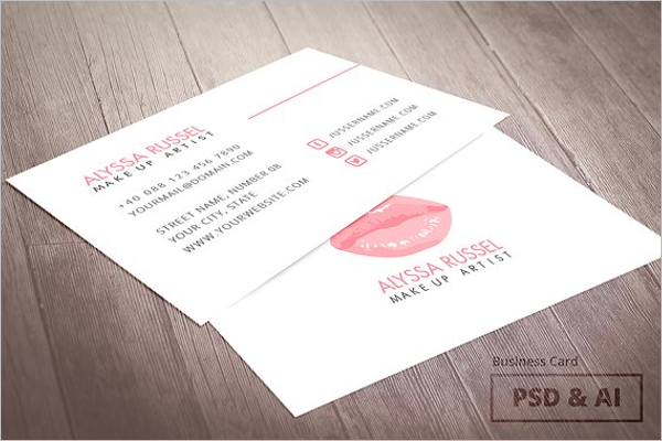 Makeup Studio Business Card Template