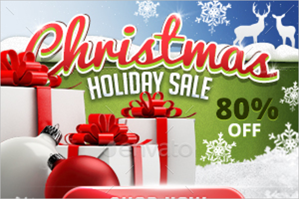 Marketing Christmas Banner Template