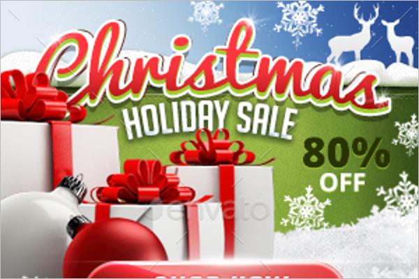 Marketing Christmas Banner Template