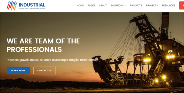 Mechanical Engineering Website Template