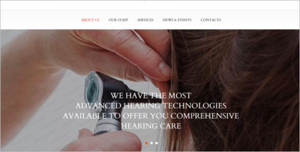 Medical Equipment Website Template