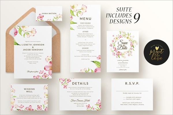 Menu Cards for Wedding Design